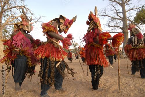 Staande foto Afrika africa, mali, paesi dogon, maschere
