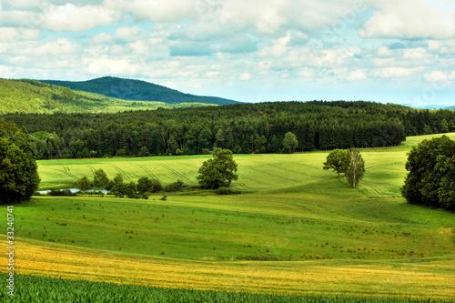 Landschaft in der Oberpfalz Canvas Print