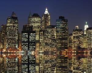 Fototapeta dolny Manhattan w nocy
