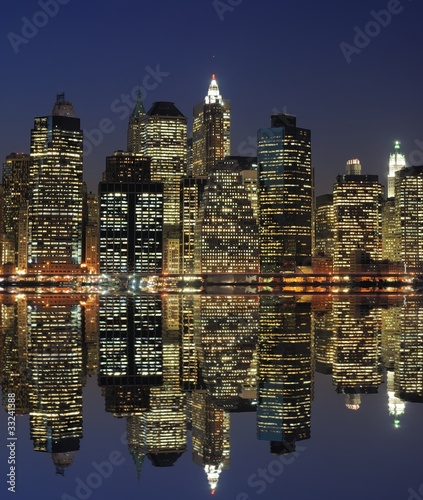 Photo  Lower Manhattan at Night