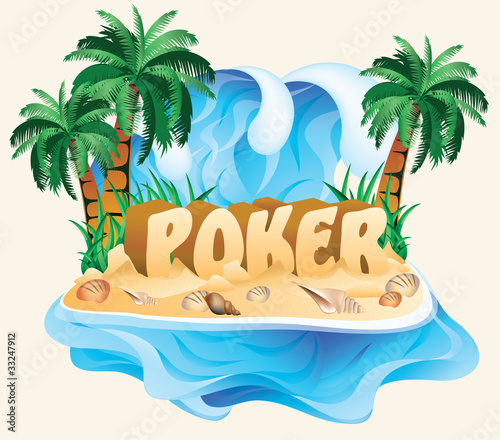 Photo  Tropical poker. vector illustration