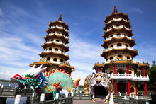 Famous Tower And Dragon And Tiger, Taiwan