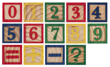 Wooden Colorful Numbers Isolated On White