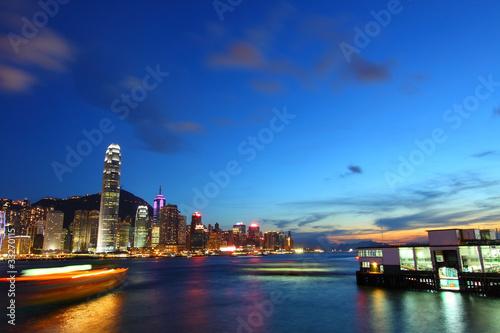Photo  Hong Kong at night