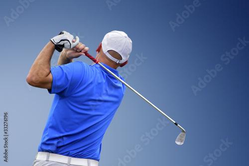 Deurstickers Golf golfer shooting a golf ball