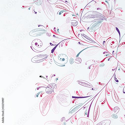rysunkowe-kwiatowe-tlo-piekna-rozowo-fioletowa-galaz-na-bialym-tle
