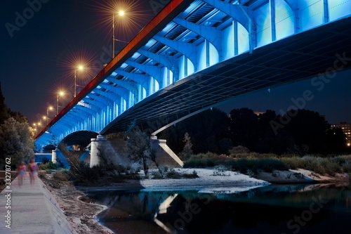 Night view of bridge in Warsaw #33278762