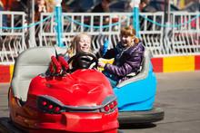 Teens Driving A Bumper Cars