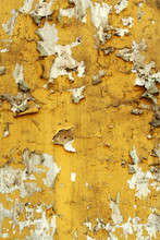 Old Wall With Cracked Peeling Paint