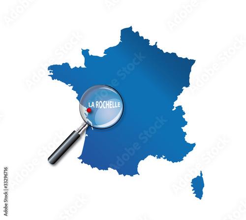 Carte La Rochelle France.La Rochelle Carte De France Departement Charente