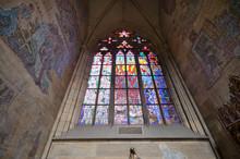 Church Window, St Vitus Cathedral Inside Interior, Prague