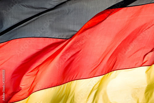 Photo german flag in the wind