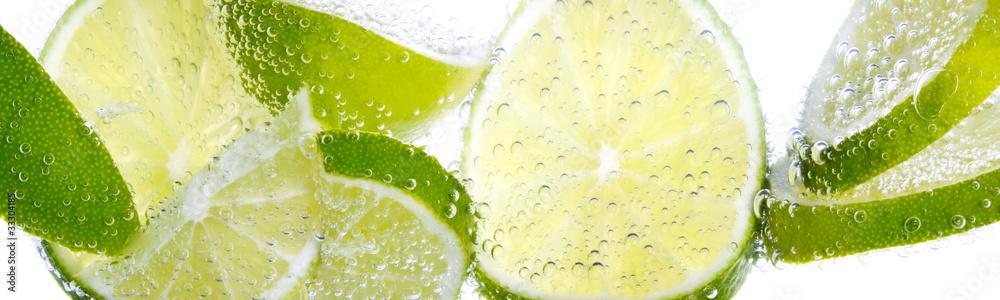 Kuchenruckwand Aus Glas Mit Foto Limette Zitrone Nikkel Art De