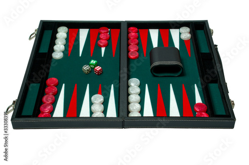 Backgammon board game - clipping path Tapéta, Fotótapéta