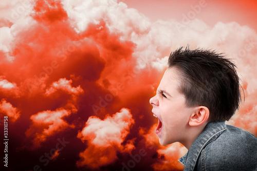 Photographie rabbia infantile