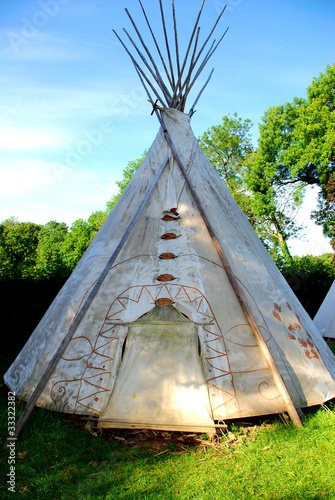 Printed kitchen splashbacks Indians tepee
