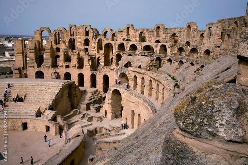 Staande foto Tunesië el djem, roman amphitheater, tunisa