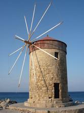 Rhodes Windmill An Island In Greece