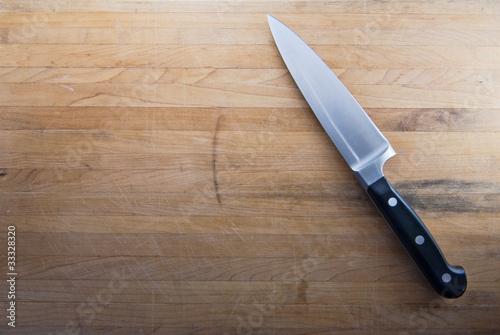 Fotografía  Butcher Knife on Counter Top
