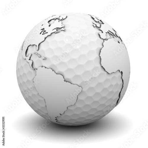 Plakaty ziemia swiat-golfa