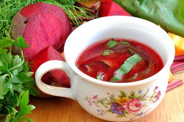 Fototapeta Warzywa tradycyjny barszcz ukraiński