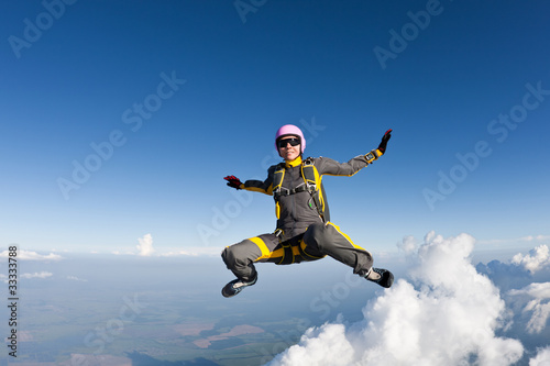 Skydiving photo Canvas Print