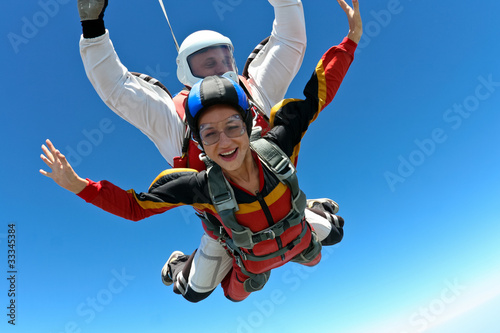 Skydiving photo Fototapete