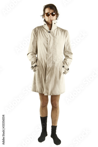 Photo  wird man with trenchcoat
