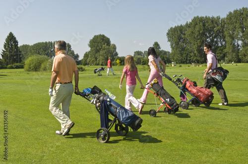 Poster Golf gutgelaunte Golfspieler