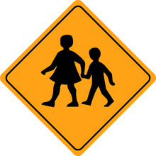 Children Crossing School Warni...