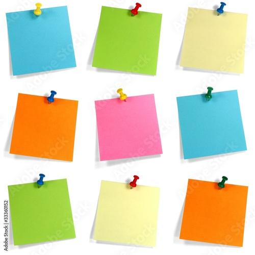 Fotografia  Buntes Notizzettel Set