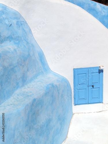 Fototapety, obrazy: Gebäudedetails in Oia auf Santorin