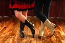Line Dancing Female Legs In Co...