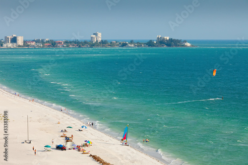 Fototapeta Lido Beach in Siesta Key, Sarasota, Florida