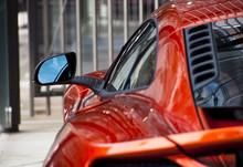 Detail Of An Orange Sports Car
