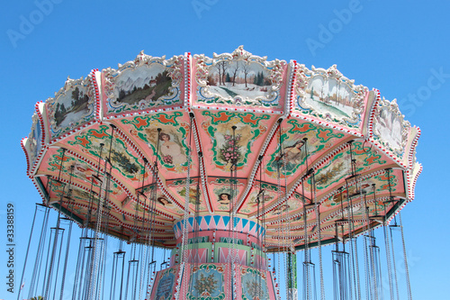 Poster Attraction parc colorful carousel