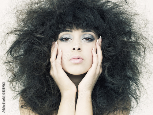 Foto auf Acrylglas Bestsellers Beautiful woman with magnificent hair