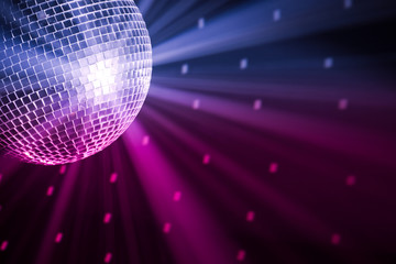 Fototapeta party lights disco ball