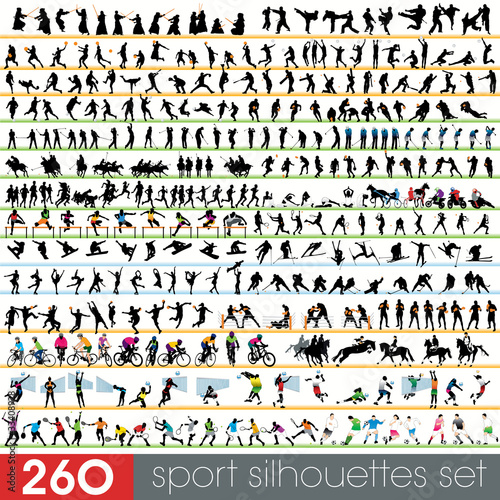 260 sport silhouettes set