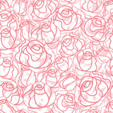 Seamless roses pattern, backdrop