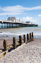 Vertical Of Worthing Pier And Beach