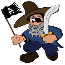 Bärtiger Pirat