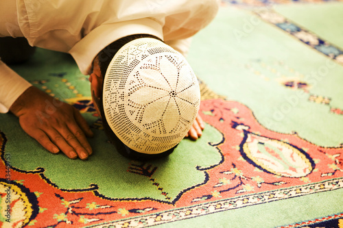 Photo  Praying people sajdah