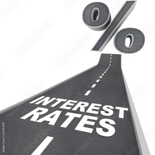 Fotografía  Road to Higher Interest Rates - Words on Street