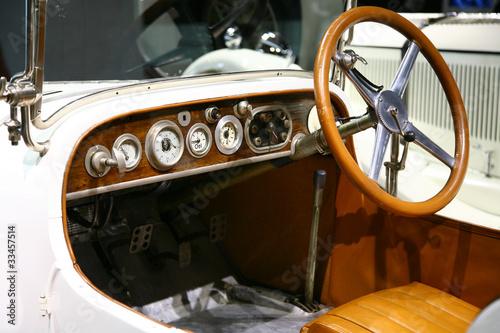 classic  mercedes benz car interior Wallpaper Mural