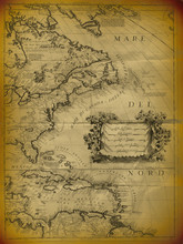 Old Map Of The Mexican Gulf An...