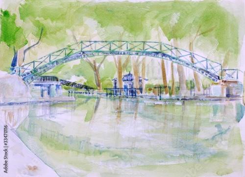 Recess Fitting Illustration Paris Canal Saint Martin