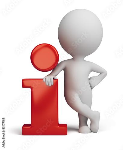Fotografia  3d small people - info icon
