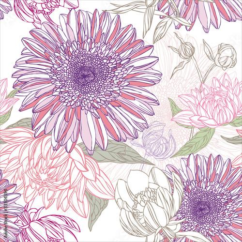 Keuken foto achterwand Abstract bloemen flower pattern