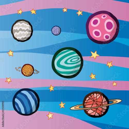 Foto op Canvas Kosmos pianeti